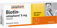 BIOTIN-RATIOPHARM 5 mg Tabletten